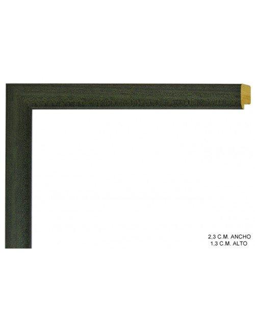 Moldura verde oscura lisa