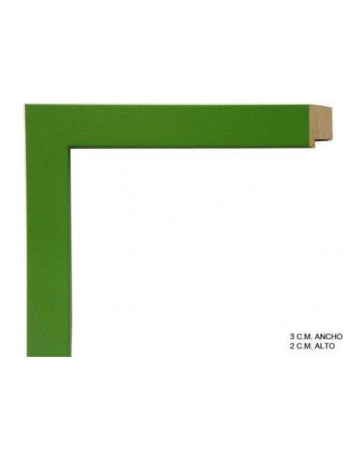 Moldura verde lisa-