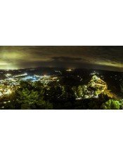 vista del castillo de xativa nocturna