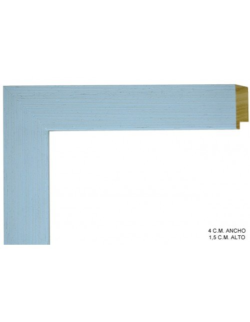 Moldura azul lisa-