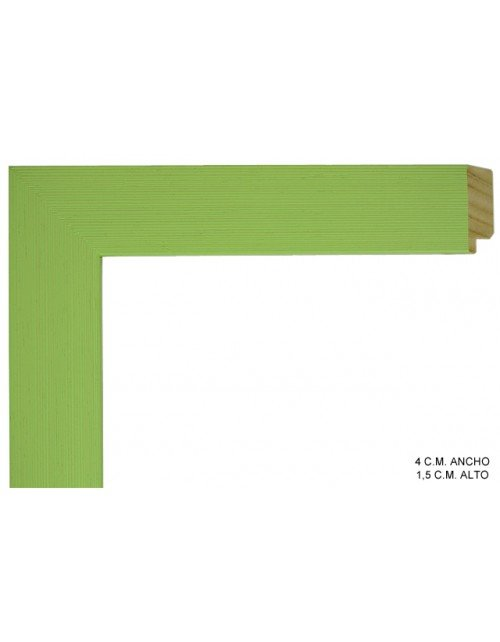 Moldura verde lisa