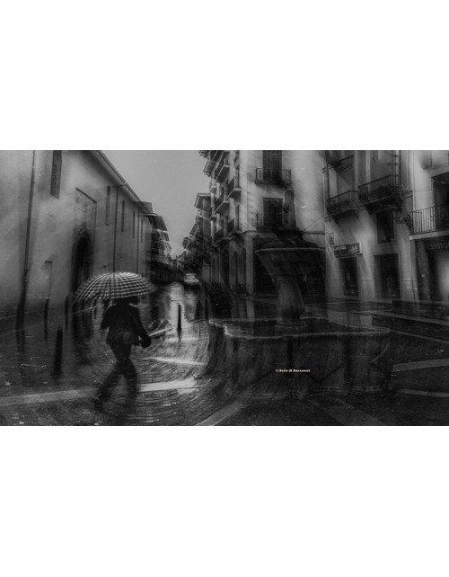 Lluvia en la plaza