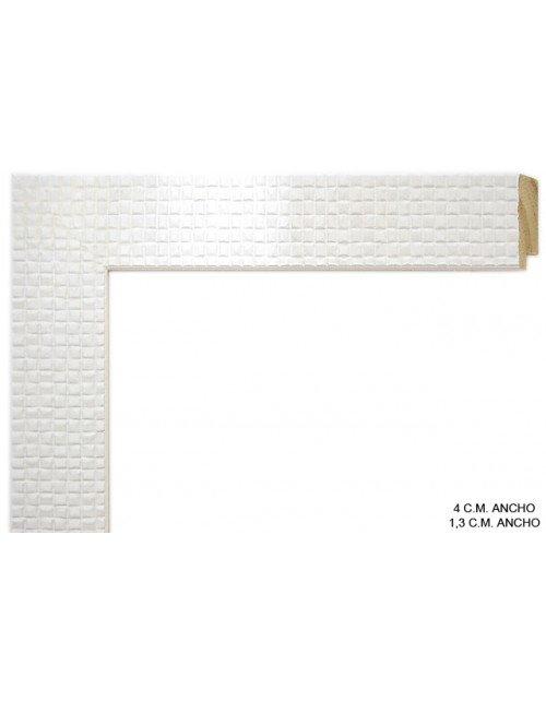 Moldura plana blanca