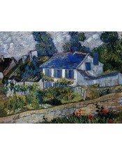 """Casas en Auvers"""". Autor: Vincent van Gogh."""