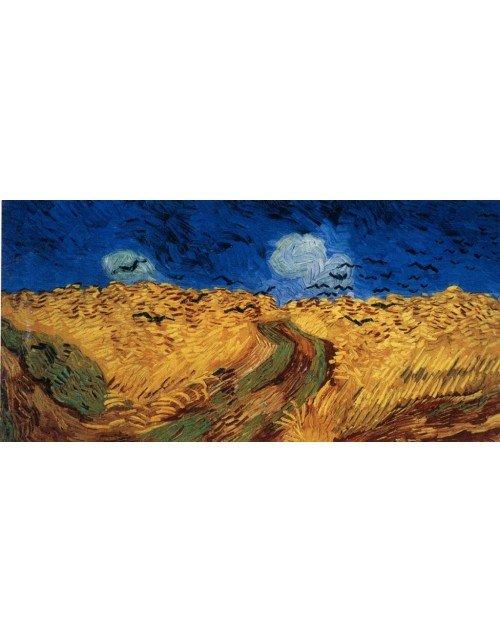 Trigal con cuervos, Campo de trigo con cuervos o Trigal bajo la tormenta