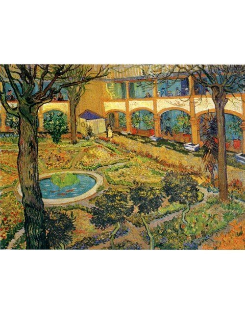 Jardín del hospital de Arles