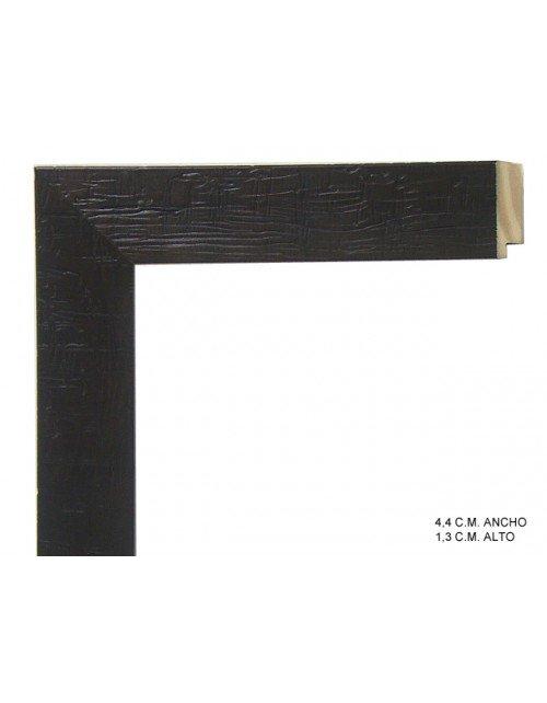 Moldura negra textura madera
