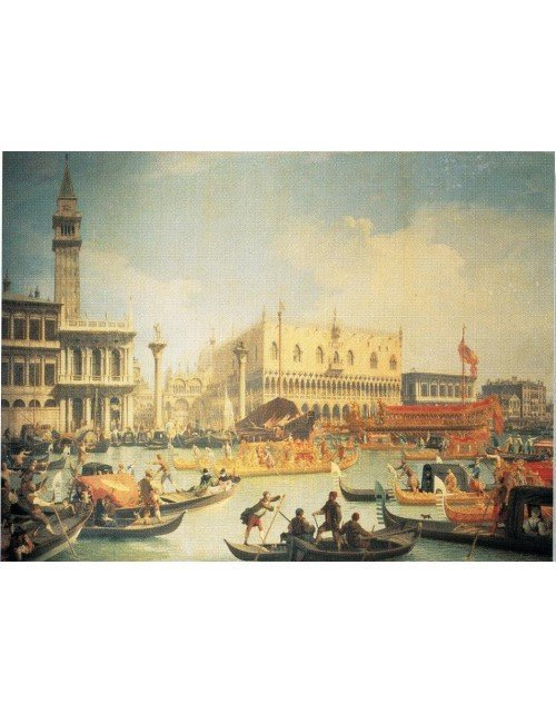 El Bucentauro en el muelle el día de la Ascensión-Canaletto