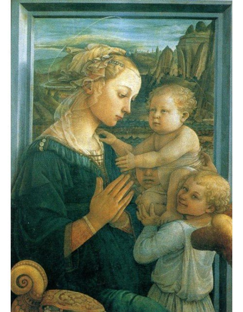 Fra Filippo Lippi, Madonna z Dzieciątkiem i dwoma aniołami ( 1465),