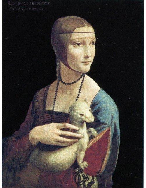 """Dama con armiño"". Autor: Leonardo da Vinci."