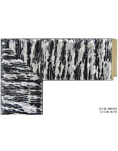 Moldura color negra y plata