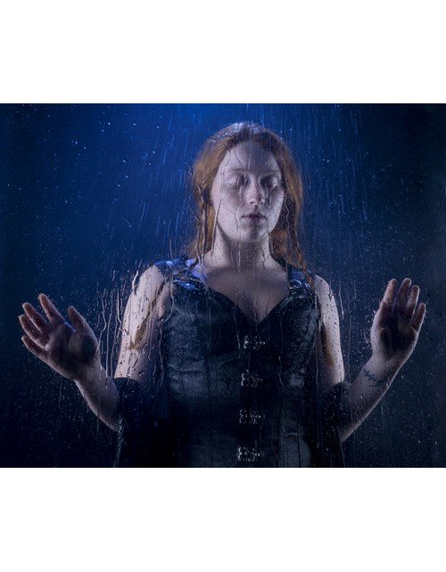 lluvia a través del cristal