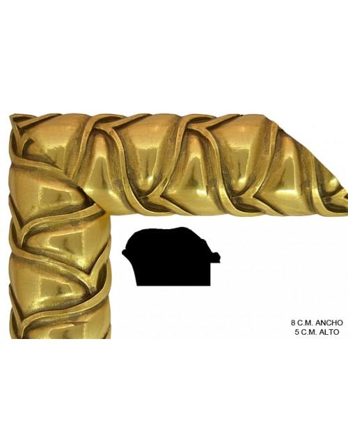 moldura dorada barroca