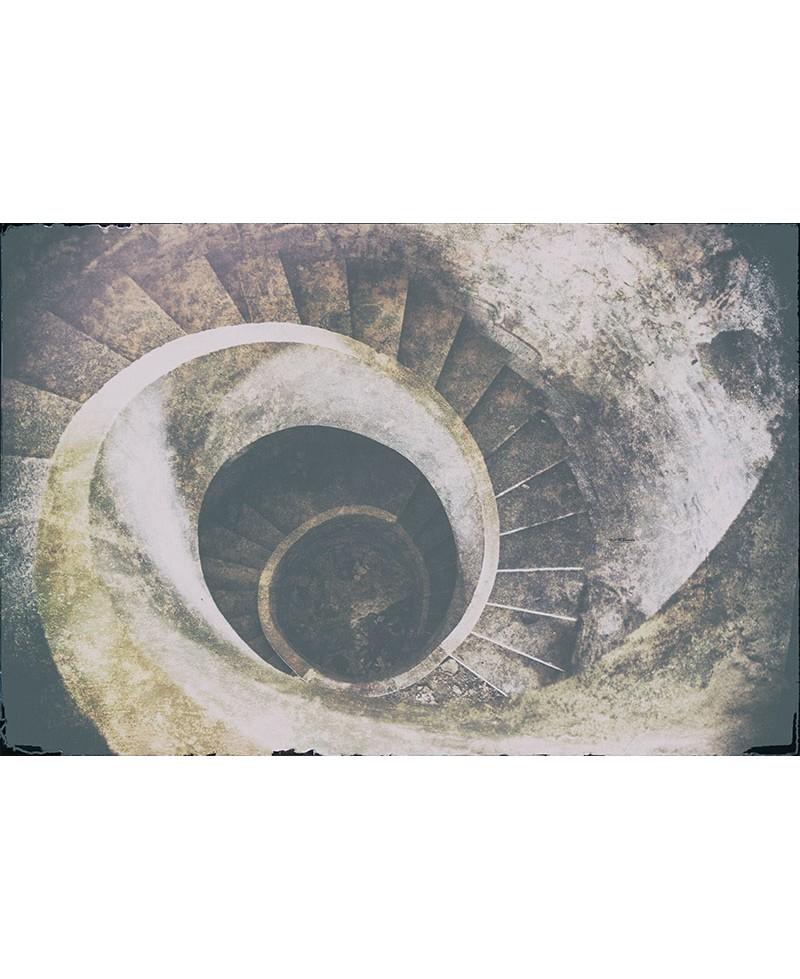 Escalera de caracol vintage