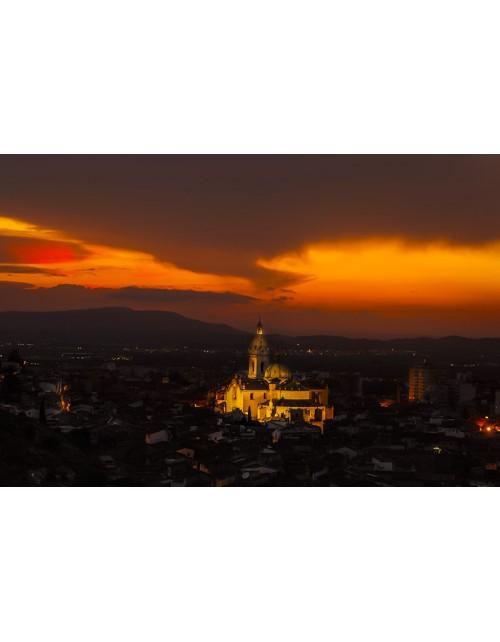 puesta de sol desde Xàtiva
