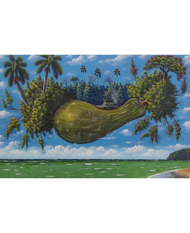 Cuadro berenjenas en el caribe